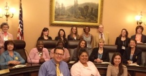 Marti MacGibbon worked with California Against Slavery on Lobby Day.