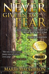 Never Give In To Fear Book by Available through Amazon