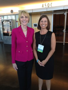 Marti MacGibbon with event planner Jill Fuqua of FSSA Division of Mental Health and Addiction at INARMS Conference