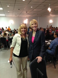 Speaker Marti MacGibbon with event planner Donna Henry, BSN, RN