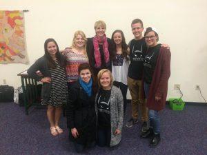 Marti MacGibbon with IJM Ball State Chapter student activists. This IJM team rocks!