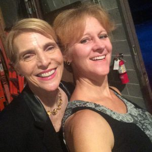 Emcee Marti Mac and Headliner Karen Rontowski backstage at Laff-Aholics 2016.